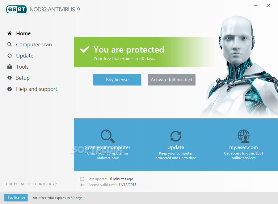 NOD32 antivirus system 2.5 Beta انتي فايروس خفيف وقوي