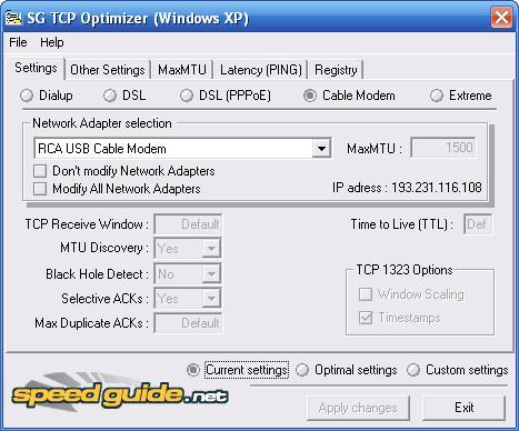 TCP/IP Optimizer