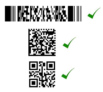 Contoh beberapa simbologi barcode 2 dimensi