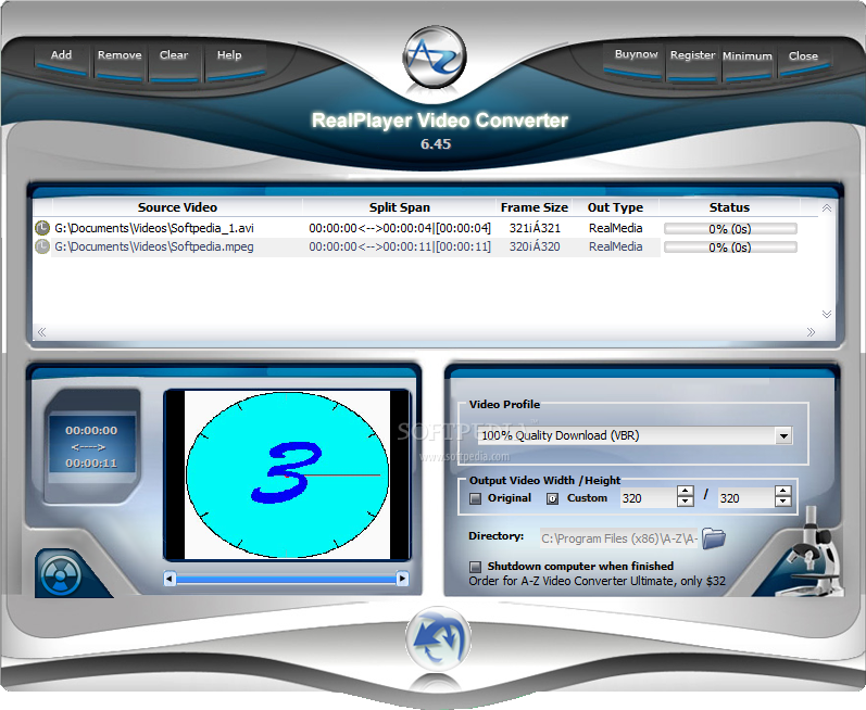 RealPlayer Video Converter v3.23