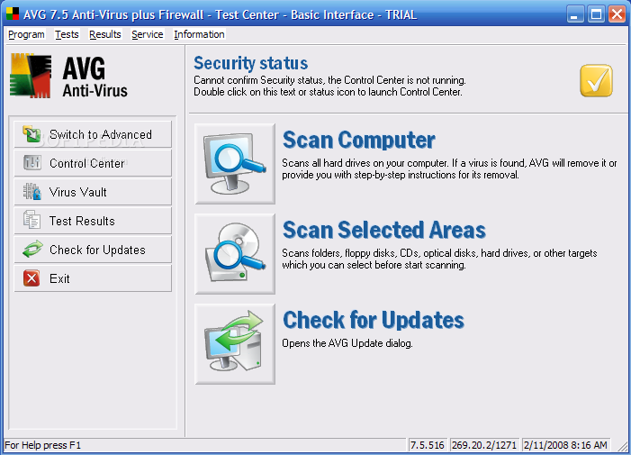برنامج الحماية الشهير AVG Anti-Virus Professional Edition 7.5.516