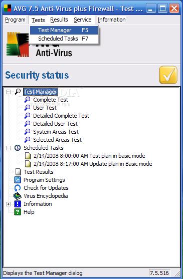 ������ AVG Anti-Virus ������� ������� ������ ��������� �������