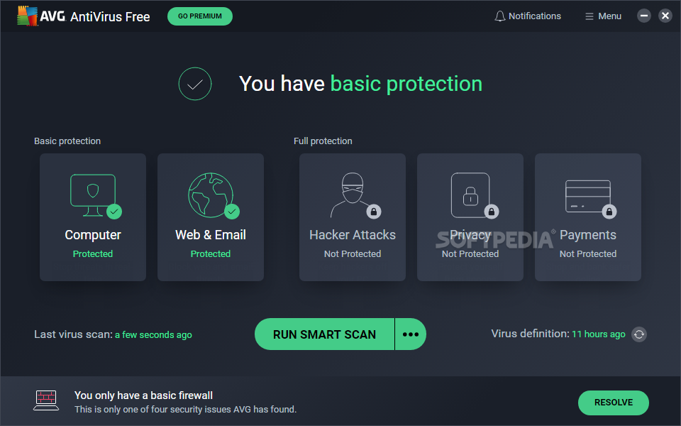 Free antivirus software to download by avg, microsoft, avast.