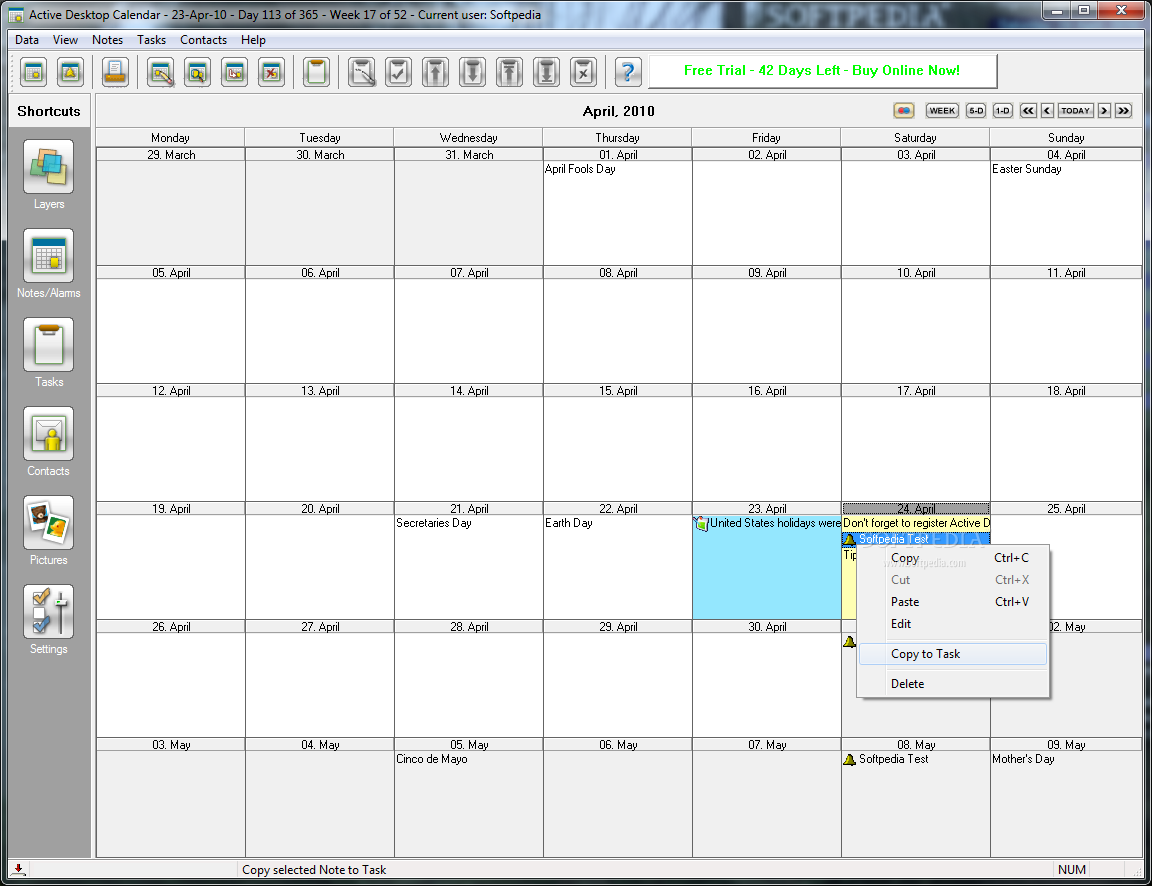 Desktop Calendar Windows 10 : Active desktop calendar shared thai