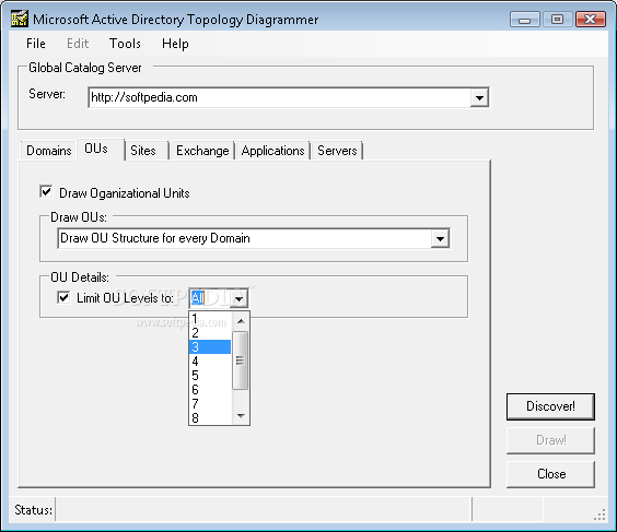 Microsoft-Active Directory Topology Diagrammer screenshot 2