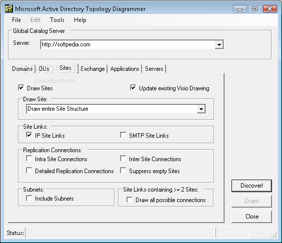 Microsoft-Active Directory Topology Diagrammer screenshot 3
