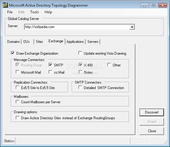 Microsoft-Active Directory Topology Diagrammer screenshot 4