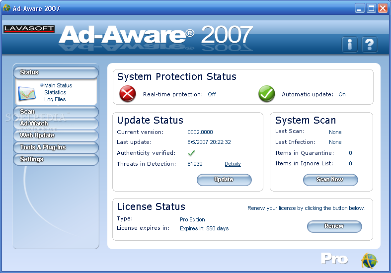 Ad-Aware Definitions File 149.404 / 150.89 - September 16th, 2010