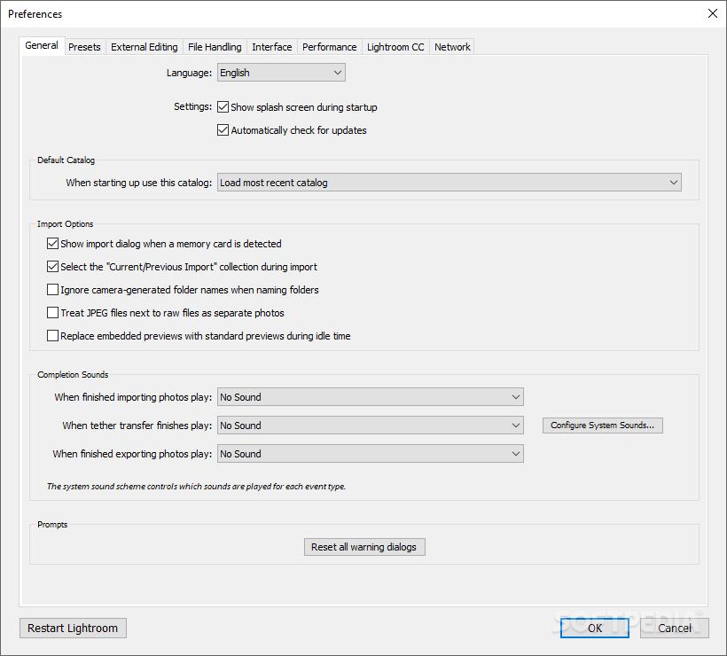 Adobe Photoshop Lightroom 1.3.1. الشركة المطورة  Adobe نوع الترخيص