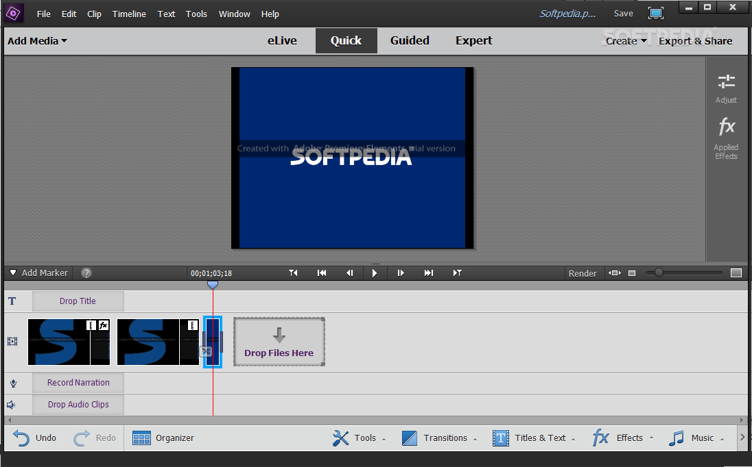 Adobe Premiere Elements screenshot 2