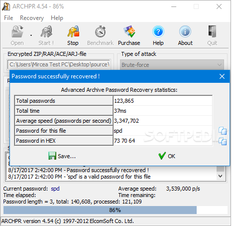 advanced password recovery registration code