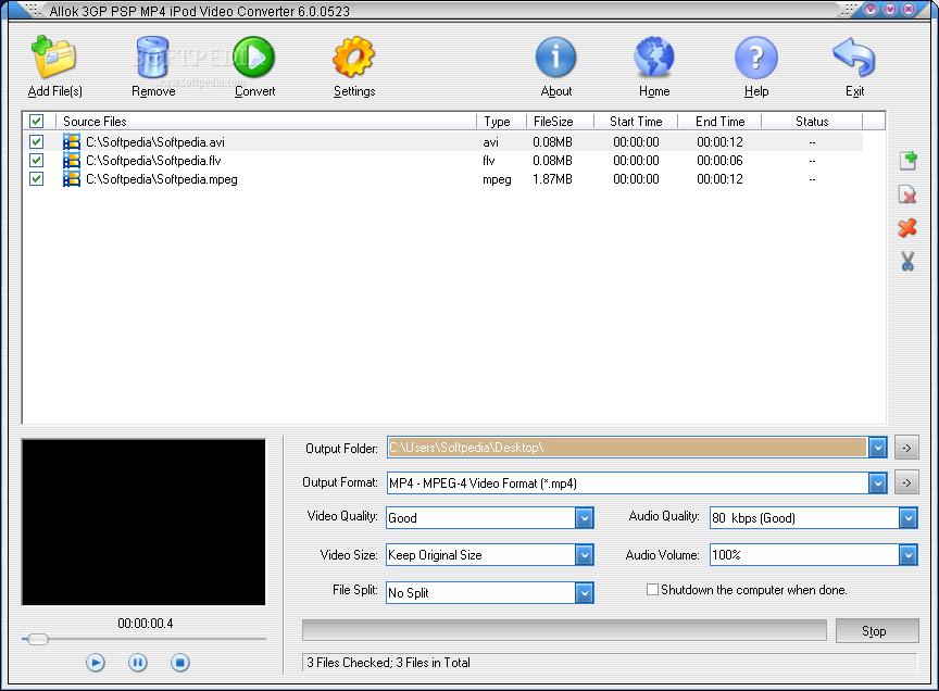 Allok 3gp psp mp4 ipod video converter latest version 2019 free.