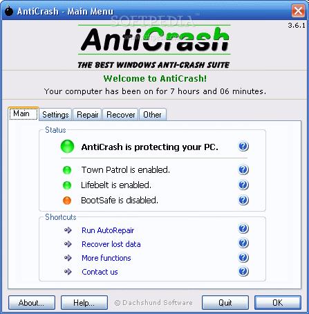 ������ Anticrash �����