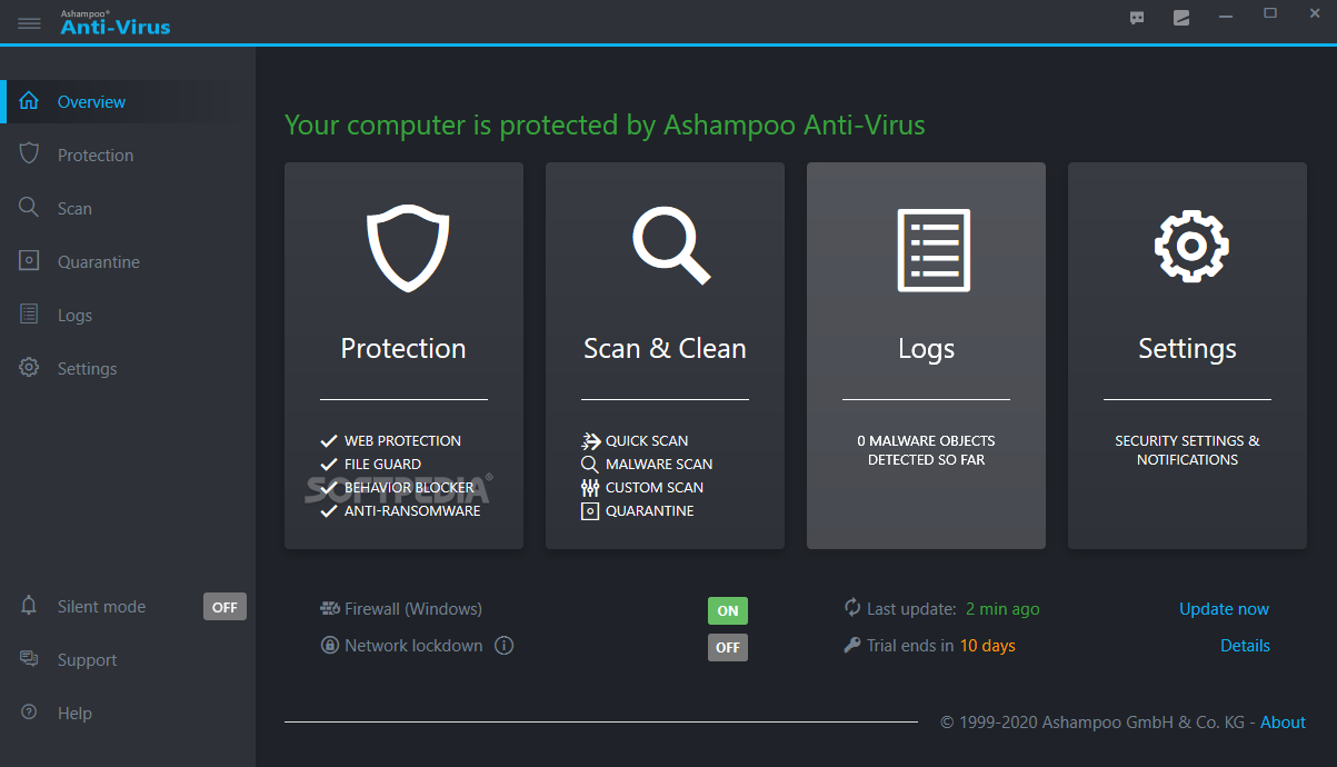 Ashampoo AntiVirus screenshot 1