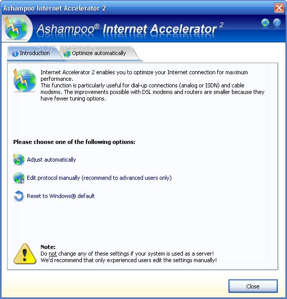 اداء النت عندك Ashampoo Internet