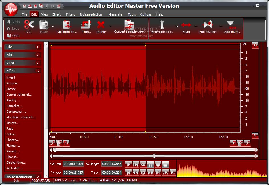 Audio editor master 5.0.1.191