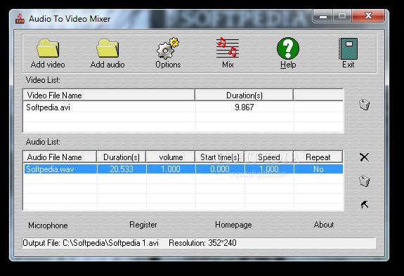 Audio To Video Mixer
