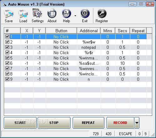 โปรแกรม AutoMouse AutoKeyboard ใช้ในการอำนวยความสะดวกในการทำงานซ้ำๆ (มียาแก้ไอ) Auto-Mouse_1