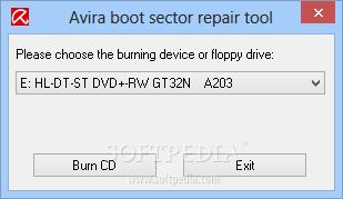 Avira Boot Sector Repair Tool 1 Avira Boot Sector Repair Tool   Công cụ sửa chữa BootSector của Avira