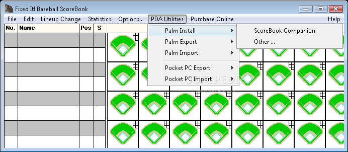 baseball scorebook template