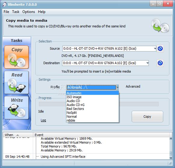 برنامج لعمل الاسطوانات محميه لا يمكن نسخها او عمل copy لها على الجهاز يجب تشغيلها من على ال cd Blindwrite_1