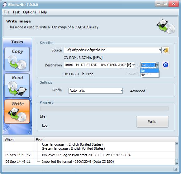 برنامج لعمل الاسطوانات محميه لا يمكن نسخها او عمل copy لها على الجهاز يجب تشغيلها من على ال cd Blindwrite_3