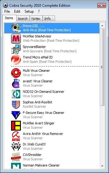 Cobra Security screenshot 1