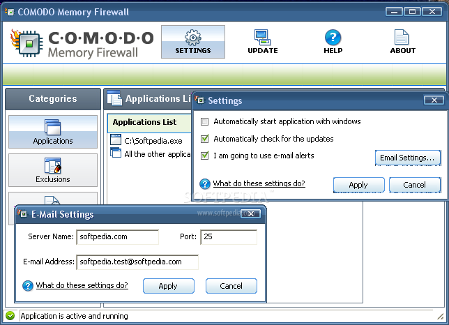Comodo Memory Firewall 3 Comodo Memory Firewall   Tường lửa cho vùng nhớ