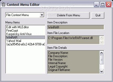 برنامج صغير للتعديل قائمة سياق