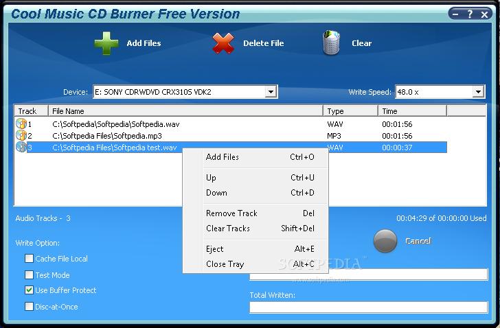 برنامج Cool Music Burner description 2010 الاسطونات Audio