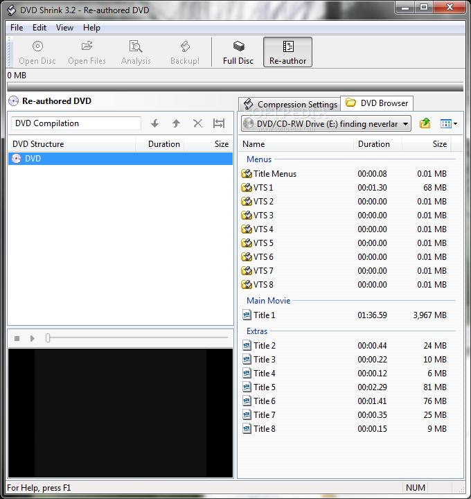 DVD Shrink Screenshot 2