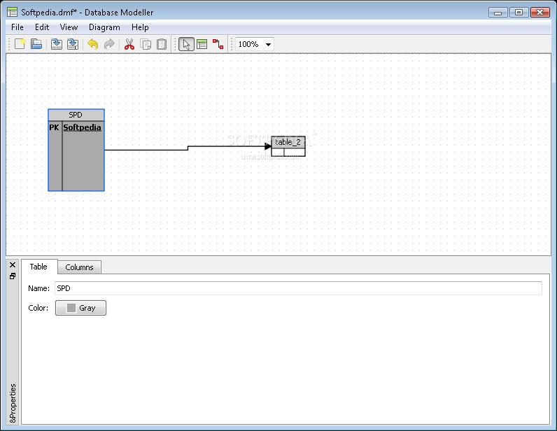 рисования схем баз данных.