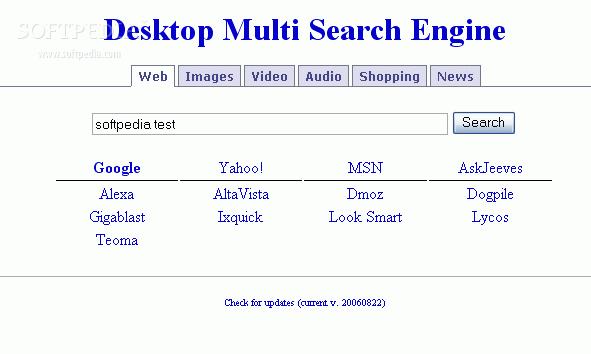 Desktop Multi Search Engine