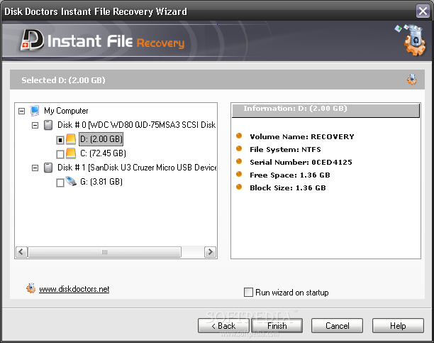 Disk Doctors Instant File Recovery screenshot 2