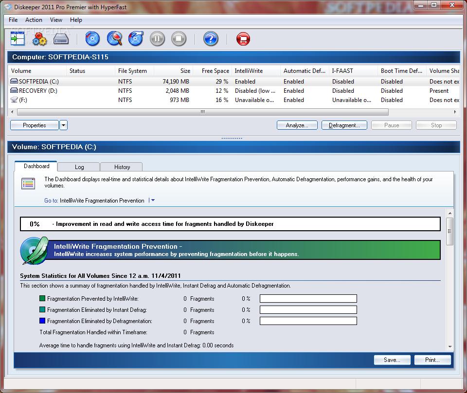 �������� ����� �� ����� ������ ������ ���� Diskeeper 2010 Pro 14.0 Build 898