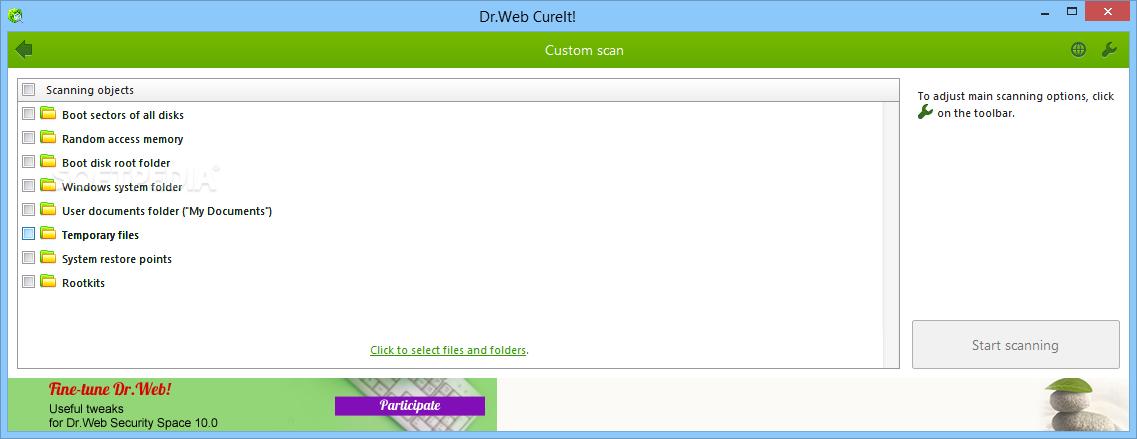 برنامج Dr.WEB CureIt! 6.00.11 برنامج