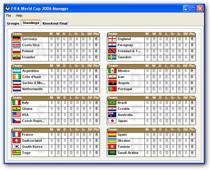 photo about World Cup Groups Printable known as Fifa 2010 earth cup worksheets printable - InfoCap Ltd.