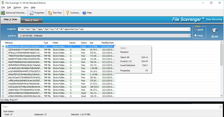 ������ ���� �������� ������� �������� File Scavenger 3.2 File-Scavenger-Hard-