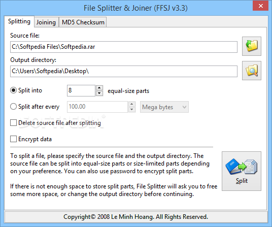 The Fastest File Splitter and Joiner v3.3 - Phần mềm cắt và nối file .001, __a - www.TAICHINH2A.COM