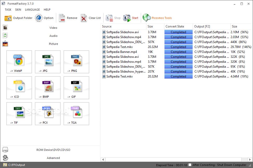 FormatFactory 1.30 y ABC 3GP/MP4 Converter