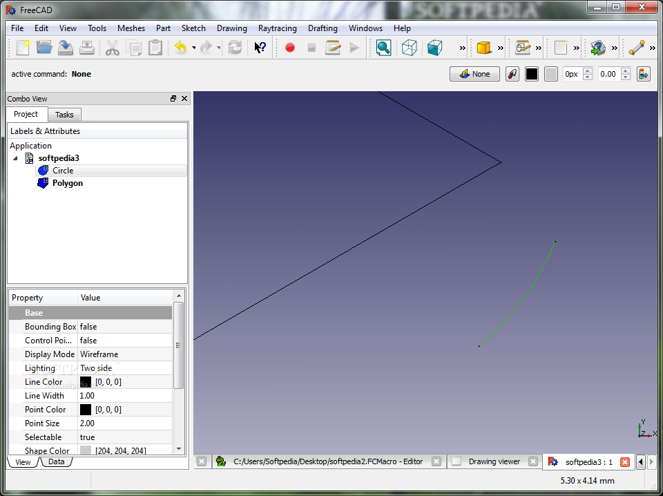 Imagen 2 de FreeCAD - You can draw and edit the properties of your drawings with the help of the program.
