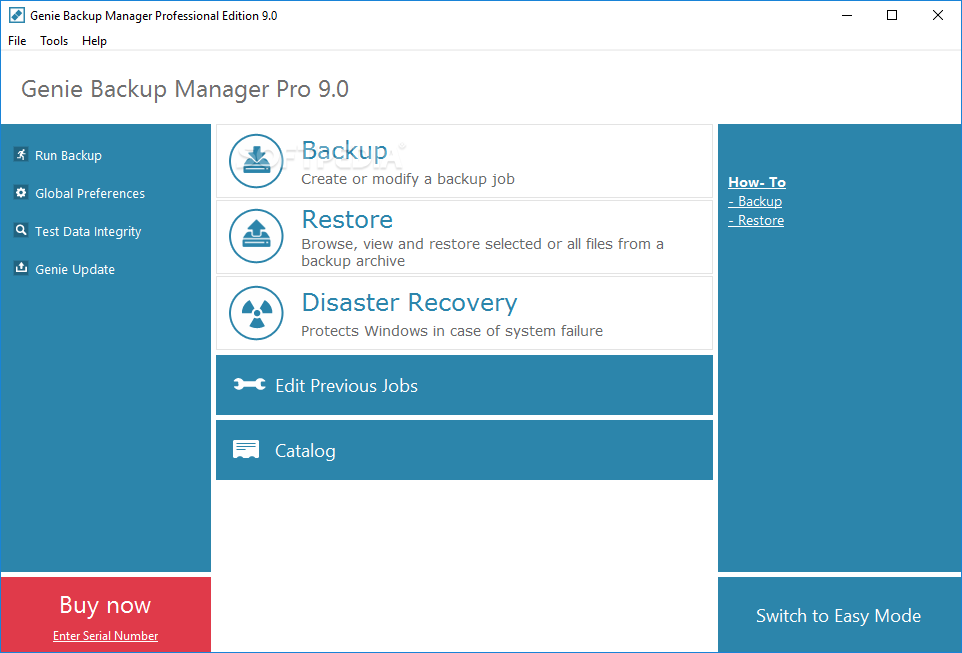 Genie Backup Manager Professional 7.0.179.349
