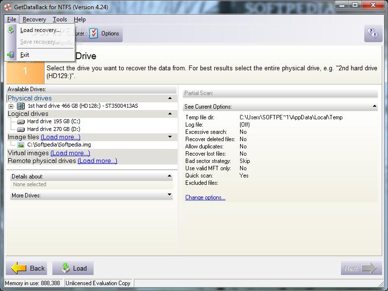 GetDataBack NTFS 4.0.0.3 Portable (2010) Английский.