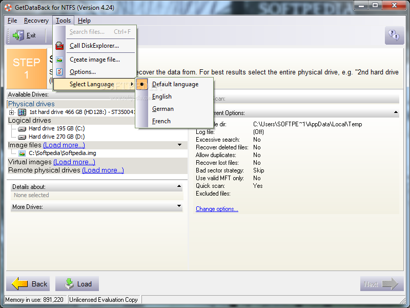 ������ GetDataBack NTFS 4.00 ������