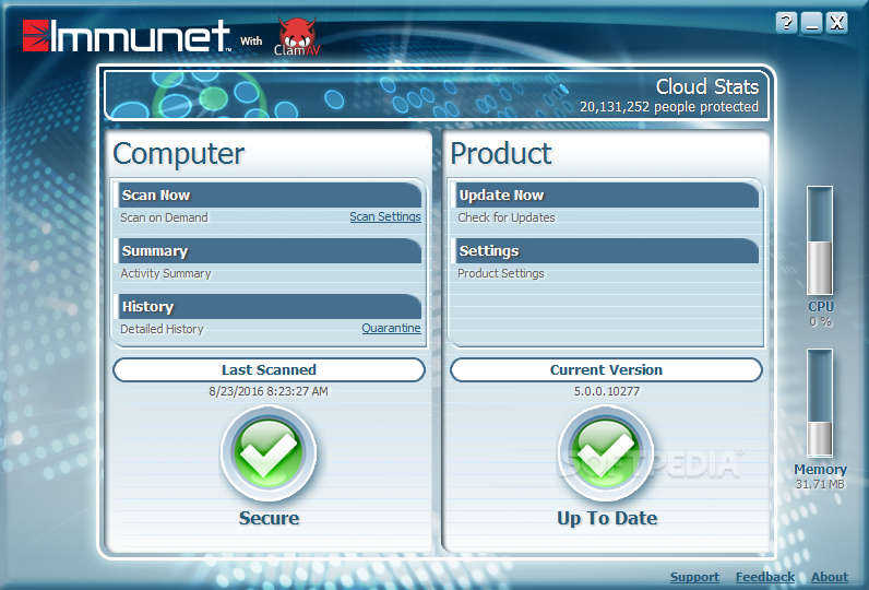 Immunet Protect screenshot 1