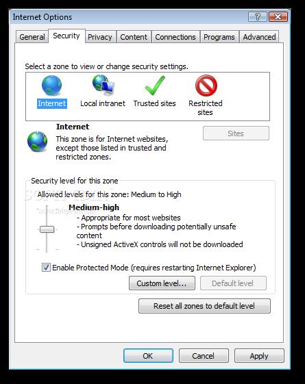 ������ �������� Internet Explorer