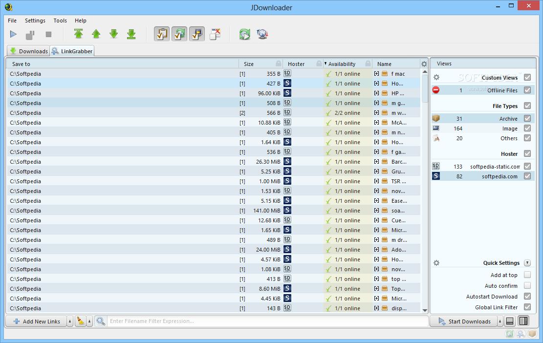 Jdownloader container file