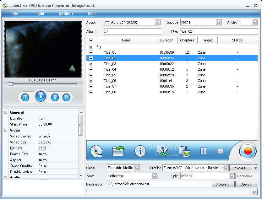 Key Features * Support almost all popular video formats Joboshare