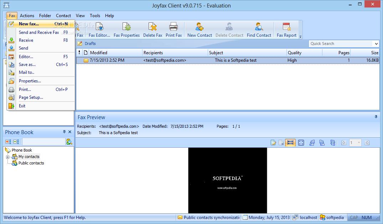 Joyfax server 4.93 build 508