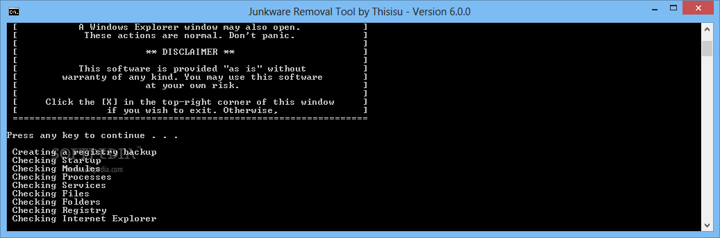 Imagen 3 de Junkware Removal Tool - After having scanned various areas of the computer, Junkware Removal Tool automatically provides users with a log file